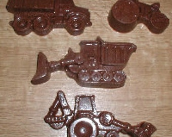 Construction Vehicles Chocolate Mold