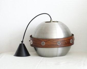 Mid Century Hanging Globe Lamp