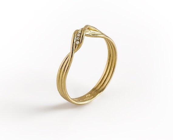 infinity diamonds engagement ring 14k yellow gold