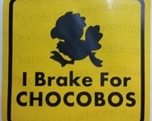 I Brake for Chocobos, My Other Ride is a Chocobo Vinyl Decals - Colored/Layered featured image