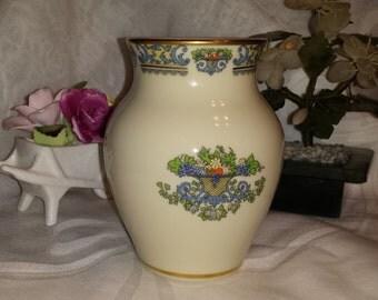 Vintage Lenox Autumn Small Vase Gold Floral Fine China