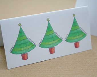 PERSONALISED Table Place Card Christmas Tree