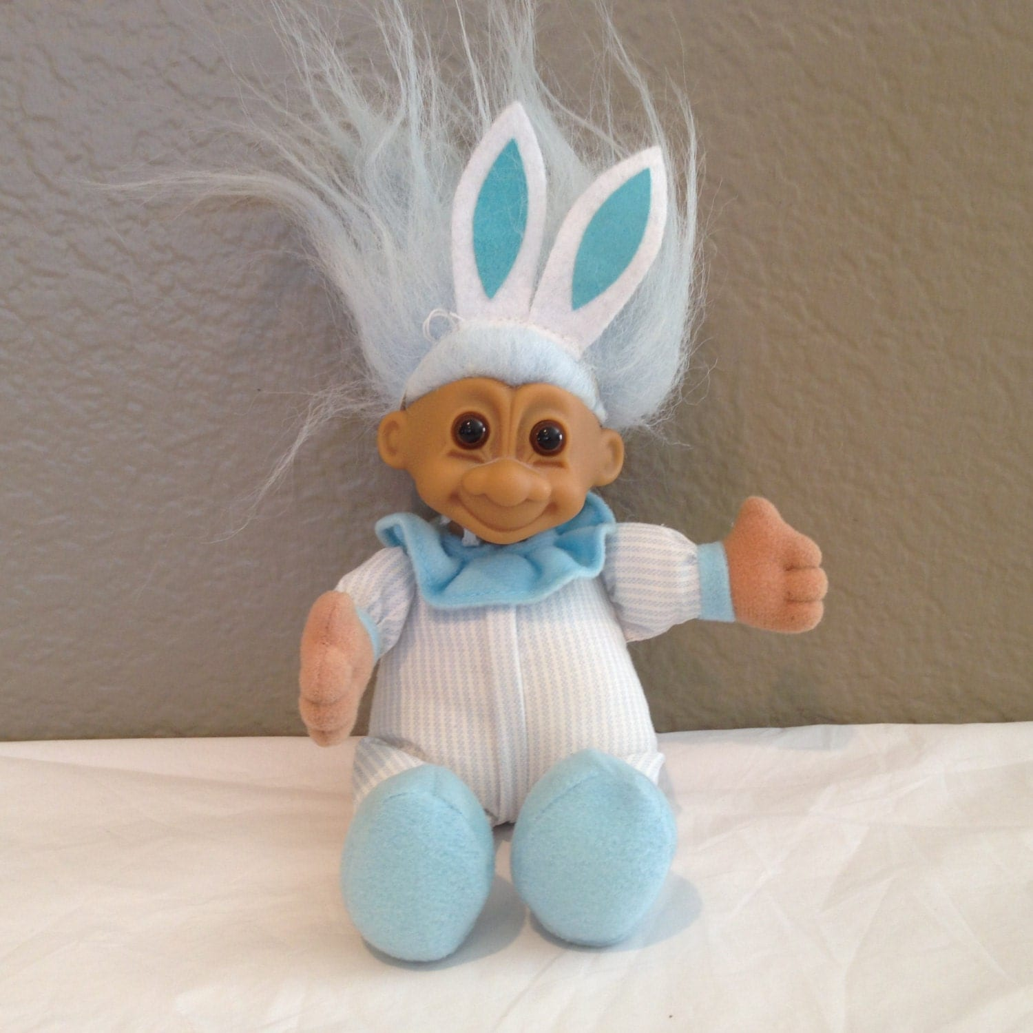 Vintage Russ 6.5 Soft Body Bunny Troll Baby Doll With