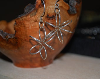 Snowflake Coil Earrings