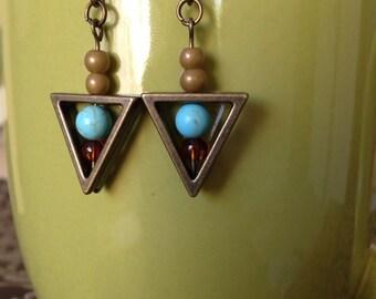 Geometric Triangle Earring