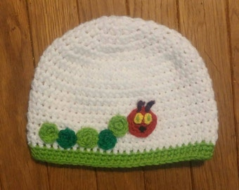 A Very Hungry Catapillar Crocheted/crochet Handmade hat girl/boy