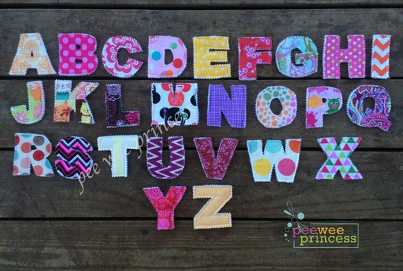 Fabric Alphabet Letters with Carrying Bag