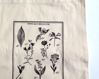 maybelle botanical tote bag