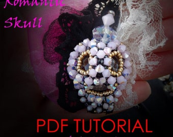 Beading Tutorial 3D Romantic Skull