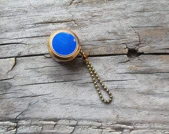 Vintage Blue Enamel Ketchcam Watch-Key Fob