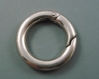 Stainless Steel Clasp, 304 Stainless Steel Key Clasp, Donut Clasp, 20 x 3.5mm Ring Clasp