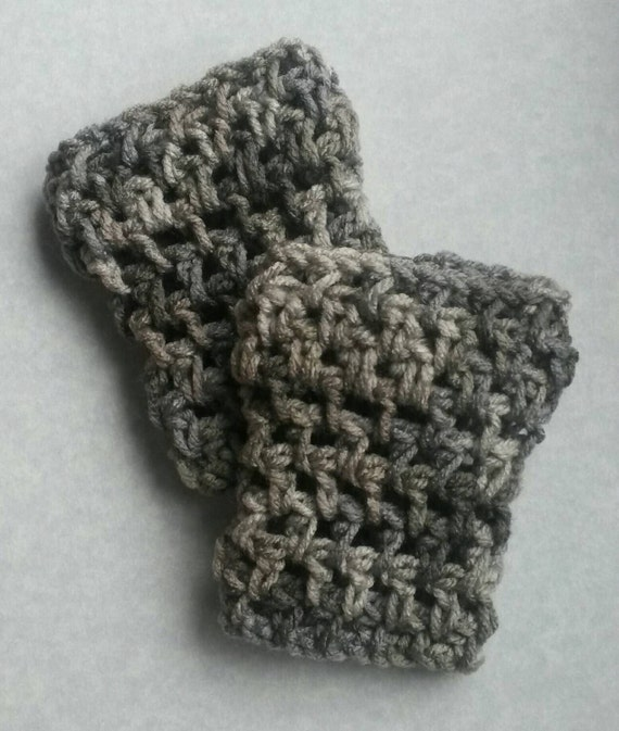 Items similar to Grey child crochet boot cuff, childrens ...