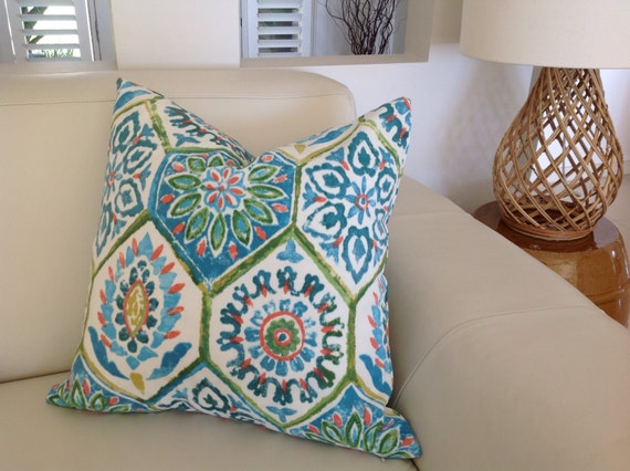 Outdoor Moroccan Floor Pillows : Outdoor Pillows Blue Green Moroccan Outdoor Cushion Cover