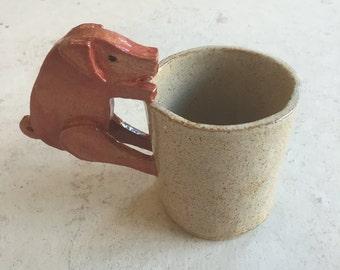 Handmade Plain Pig Mug