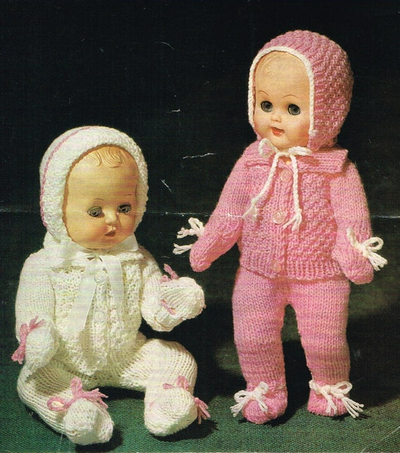 Dolls clothes knitting pattern.10 12 14 16