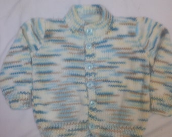 Knitted Baby/Infant Cardigan Sweater - size 3- 6 months