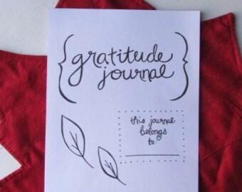 Printable Hand-Lettered Gratitude Journal (Non-Religious Version)