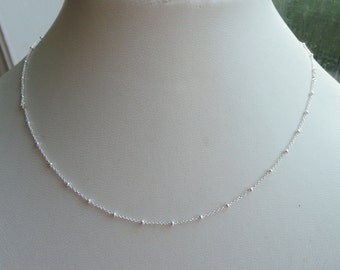 Sterling silver satellite necklace, Delicate Sterling silver necklace, Elegant sterling silver necklace, Delicate necklace, Gifts
