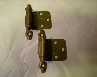 2 vintage brass hinges-home decor-art-crafts-replacements-