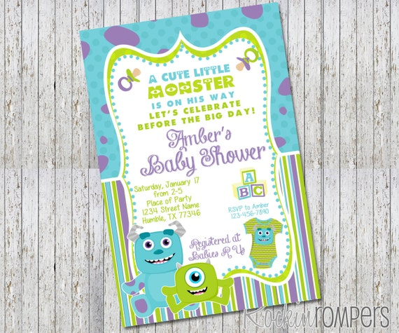 Monster Inc Baby Shower Invitations is the best ideas you have to choose for invitation example