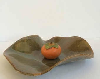 Ceramic Serving Bowl  with Autumn Glaze