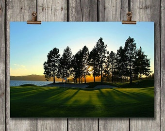 Golfer's Paradise - Golf Course, Scenic, Sunset, Photography - Coeur d' Alene, ID - Fine Art Print - Canvas Gallery Wrap - Metal Prints