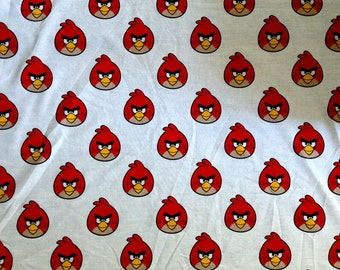 Angry Birds Red Bird Allover Fabric - Different Sizes available - Cotton Blend