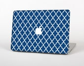The Navy & White Seamless Morocan Pattern Skin for the Apple MacBook Air - Pro or Pro with Retina Display (Choose Version)