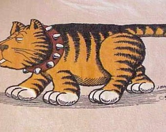 Rare Vintage BAD CAT T-Shirt 1980 Signed by J. Bates Hanes Beefy Size XL