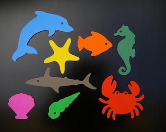 juego de baño en goma EVA - conjunto de 8 creaturas marinas personalizable