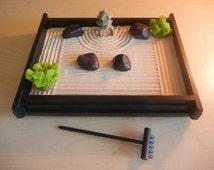 popular items for mini zen garden on etsy. Black Bedroom Furniture Sets. Home Design Ideas