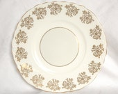 Vintage 'Mayfair' bone china tabbed cake plate with gold decoration