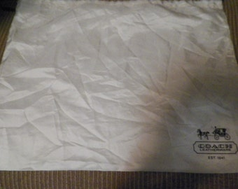 Now thru 9/10 30% off use Coupon code SAVE07! Clearance...Authentic COACH Handbag Dust Bag