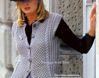 Knitting Blocks Patterns : Knit waistcoat Etsy