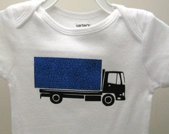 Semi-trailer truck onesie