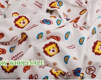 170cm wide Cartoon Cute baby knit fabric knit fabric kid's fabric blanket fabric bedding fabric baby clothes fabric 1 yard