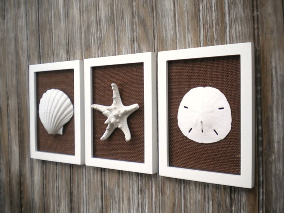 Cottage Chic Set Of Beach Wall Art Bathroom Decor Beach Decor