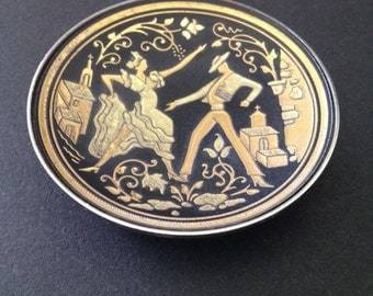 Vintage Minature Dish Damascene Toledo Spain