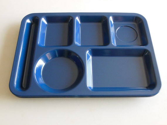 2 texas ware food tray kids divided lunch tray set of 2 blue plastic cafeteria food