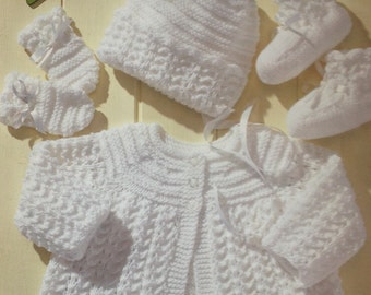Free Knitting Patterns For Angel Babies : Baby cardigan Etsy