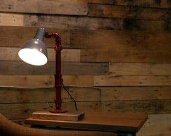 Industrial gas pipe desk lamp table lamp office lamp for Gas pipe desk lamp