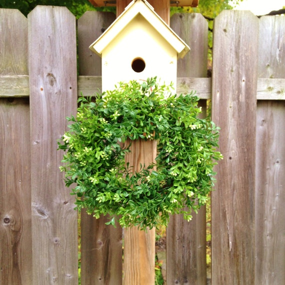 Artificial boxwood wreath faux boxwood wreath spring wreath house