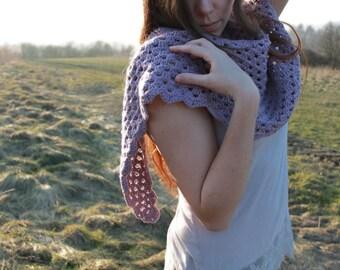 Tender... crochet natural  shawl