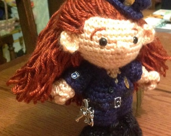 Corie the Police officer doll, policewoman, policeman doll