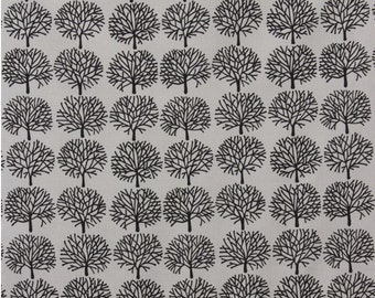 The Ghastlies / Ghastly Forest / cotton quilting fabric / Alexander Henry fabrics / Smoke by the Yard Grey