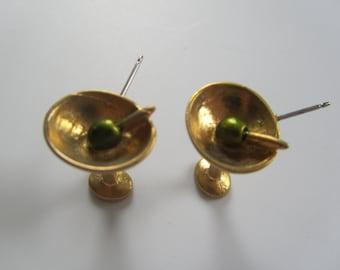 JJJonette  Vintage Martini Earrings Small
