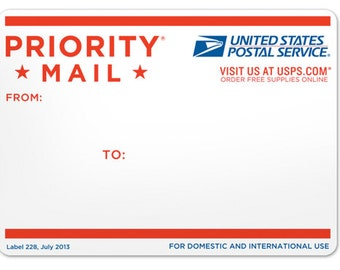 Expedited 2 day Priority USPS Shipping