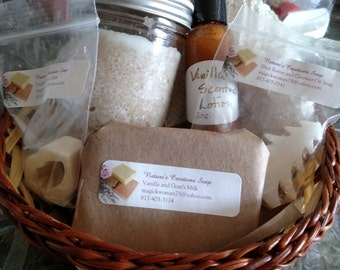 Vanilla Sea Salt Scrub Gift Basket