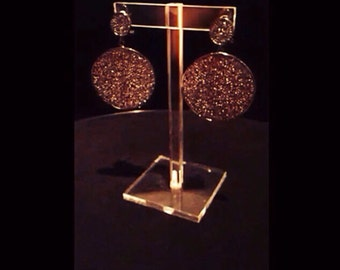 Statement earring, rhinestone crystal earring, bridal earring