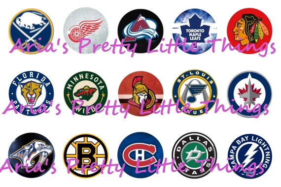 All Hockey League Nhl 1 Inch Bottle Cap Images 4x6